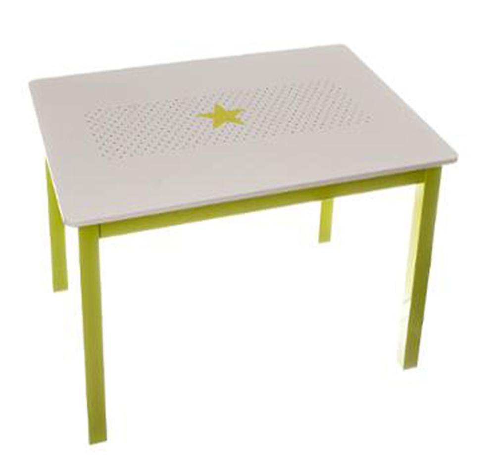 table en bois pour enfant vert et blanche dim l 77 x l 55 x h 48 cm ebay. Black Bedroom Furniture Sets. Home Design Ideas