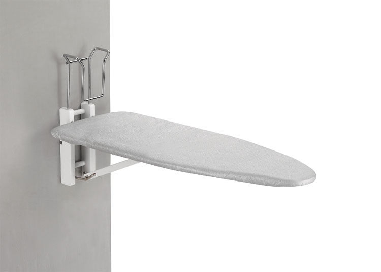 planche repasser murale latina en bois blanc fer repasser avec arr t auto ebay. Black Bedroom Furniture Sets. Home Design Ideas