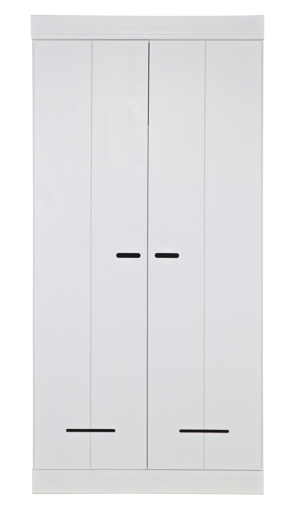 armoire avec 2 portes blanche en pin massif h195 x l94 x p53 cm ebay. Black Bedroom Furniture Sets. Home Design Ideas