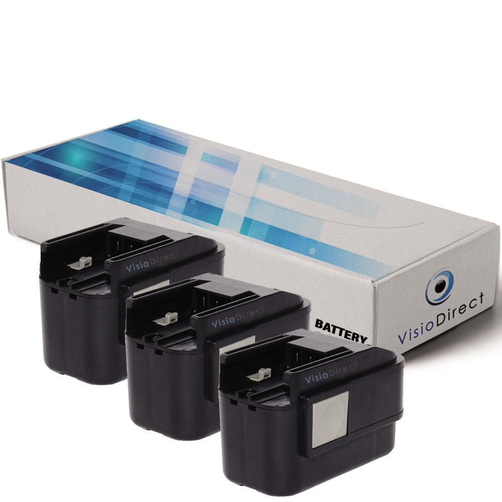 Lot de 3 batteries type BXS9.6...