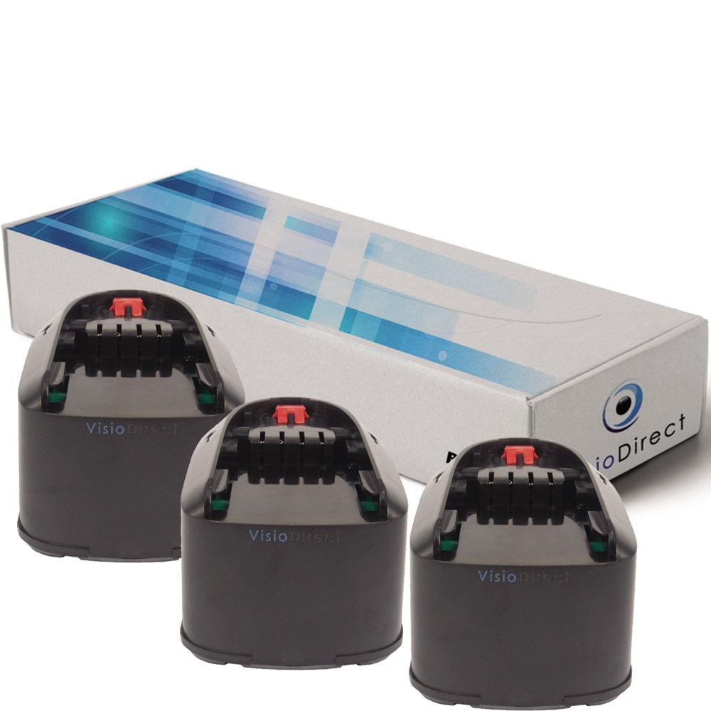 Lot de 3 batteries pour Bosch ...