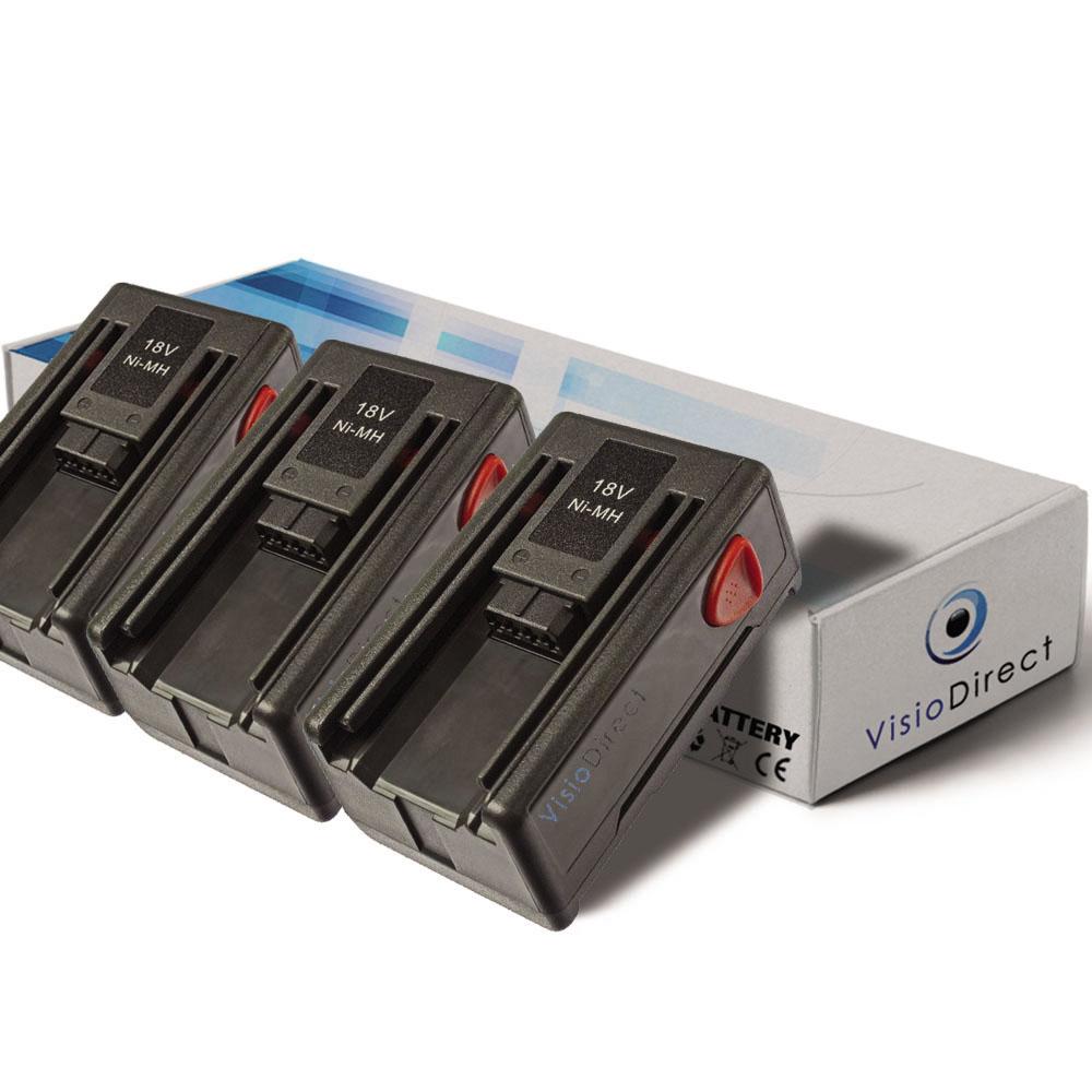 Lot de 3 batteries pour Garden...