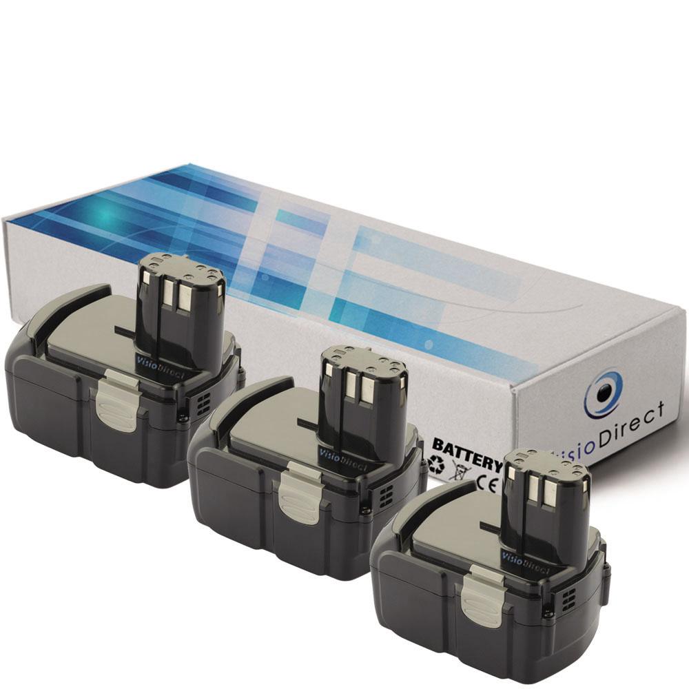 Lot de 3 batteries pour Hitach...