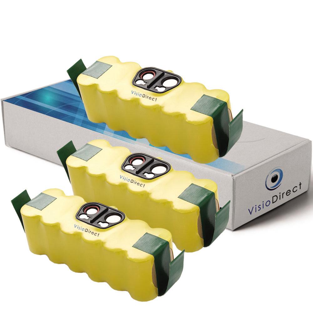 Lot de 3 batteries pour IROBOT...