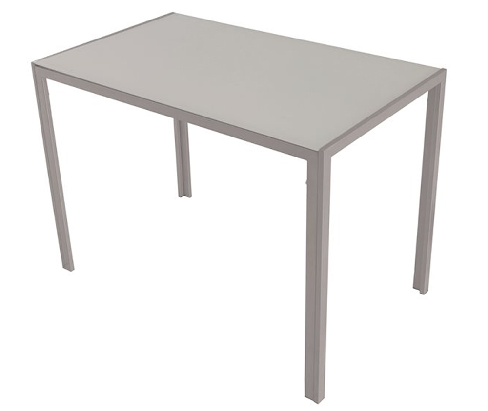 Table de cuisine blanche gris dim 1050 x 600 x 750 mm for Table cuisine blanche