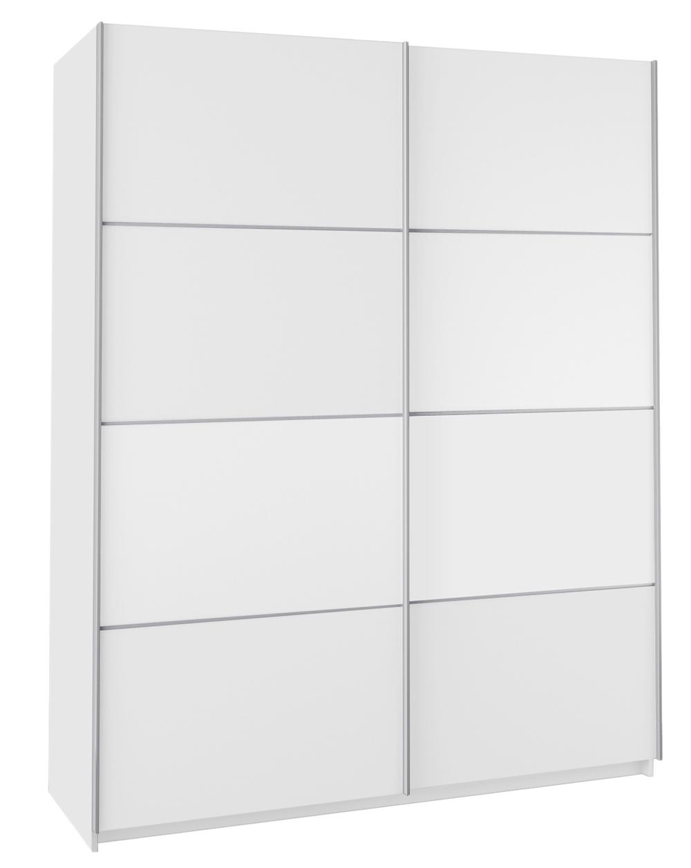 Armoire 2 portes coulissantes blanche dim 1800 x 600 x 2200 mm ebay - Armoire porte coulissante blanche ...