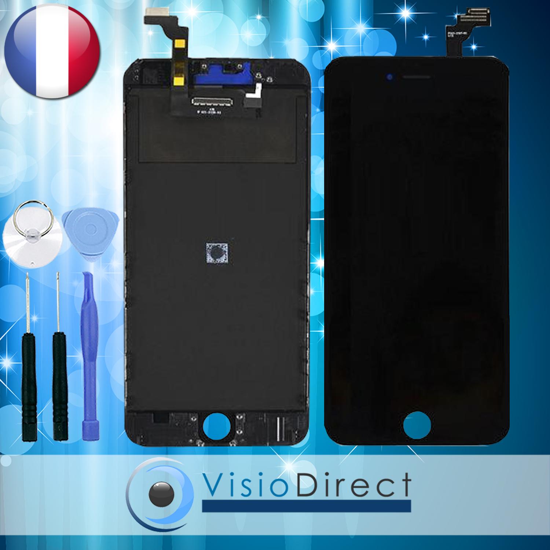 ecran complet pour iphone 6 plus noir vitre tactile ecran lcd sur chassis ebay. Black Bedroom Furniture Sets. Home Design Ideas